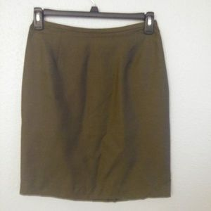 Ann Taylor Silk Pencil Skirt
